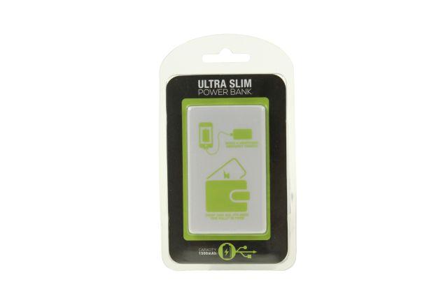 Baterie Portabila Credit Card, Alb