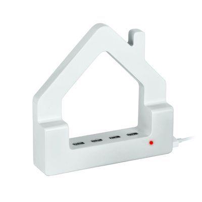 Hub USB Casa, alb