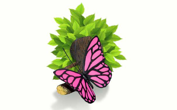 Lampa ambintala flutuure roz