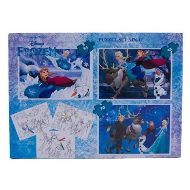 Puzzle 3buc/set,coloriaj,Frozen
