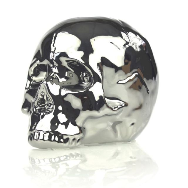 Skull Saving Box Silver