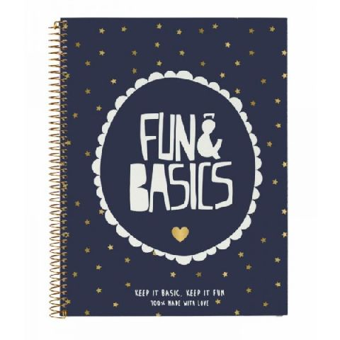 Caiet spira A4,120file,Fun&Basics