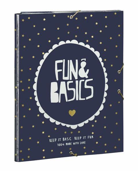 Mapa A4 carton,3flapsuri,Fun&Basics