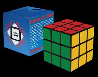Cub Rubik 3x3x3- albastra, +6ani