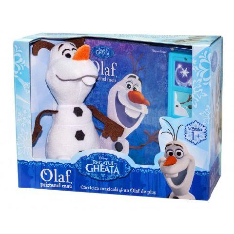 DISNEY. REGATUL DE GHEATA. OLAF, PRIETENUL MEU. CARTICICA MUZICALA SI UN OLAF DE PLUS