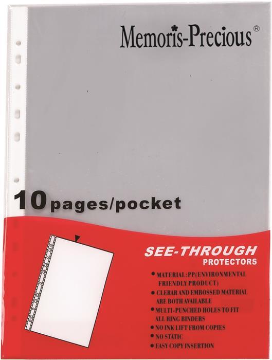 File plastic A4,30microni,10buc/set