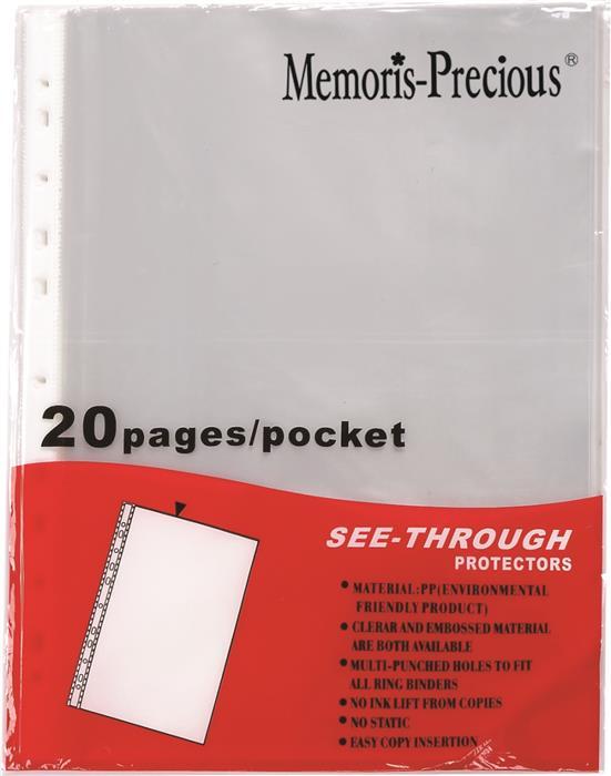 File plastic A4,30microni,20buc/set