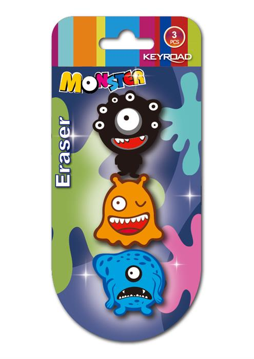 Radiera Keyroad Funny Monster,3buc/set