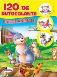120 DE AUTOCOLANTE: PUII DE ANIMALE