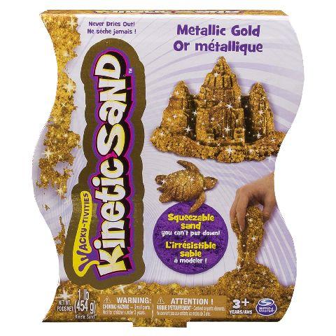 Kinetic Sand,nisip 454g,auriu/argintiu