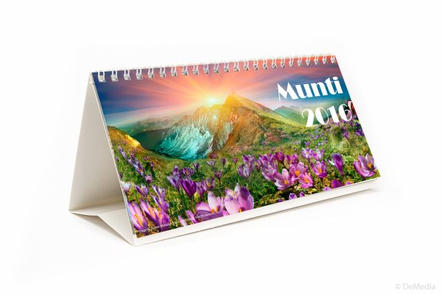 Calendar birou 21x11cm,Munti,6f,2016