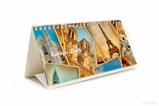 Calendar birou 21x11cm,Europa,6f,2016