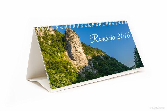Calendar birou 21x11cm,Romania,6f,2016
