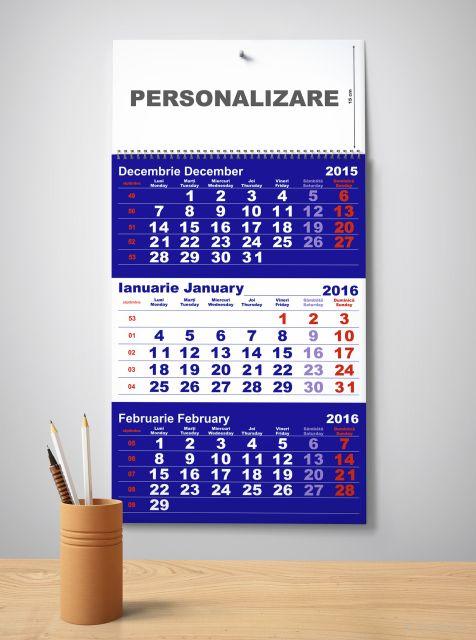 Calendar perete 33x48cm,12f,Clasic1,2016