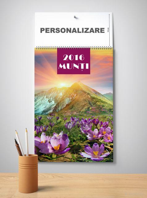 Calendar perete 33x48cm,Munti,12f,2016