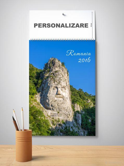 Calendar perete 33x48cm,Romania,12f,2016