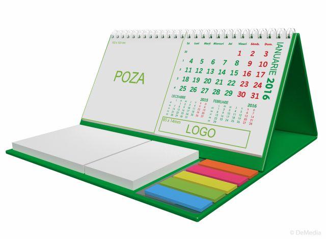 Calendar birou,notite repoz,Clasic,verde