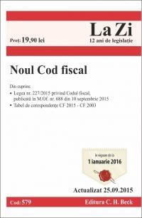 NOUL COD FISCAL LA ZI COD 579 (ACT 25.09.2015)