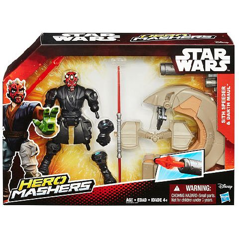 StarWars-Hero Mashers,vehicul Sith Speeder,figurina Darth Maul