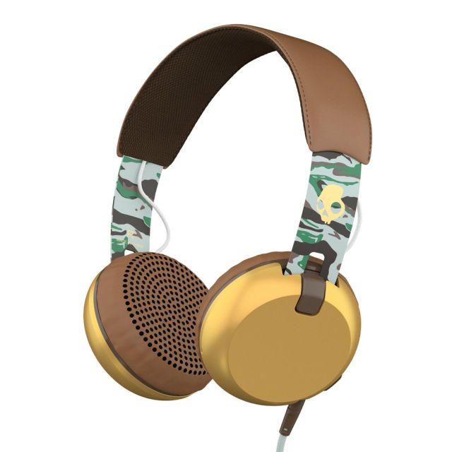 Casti Skullcandy Grind Scout Camo/Brown/Gold