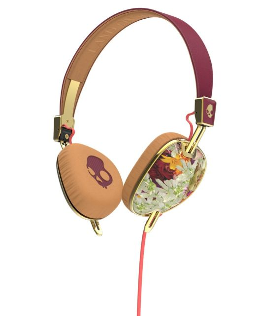 Casti Skullcandy Knockout Floral/Burgundy Rose/Gold