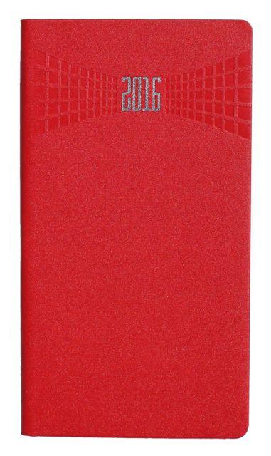 Agenda 8x15cm,datata,Matra,128p,rosu