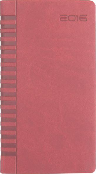 Agenda 8x15cm,datata,Bristol,128p,rosu cardinal