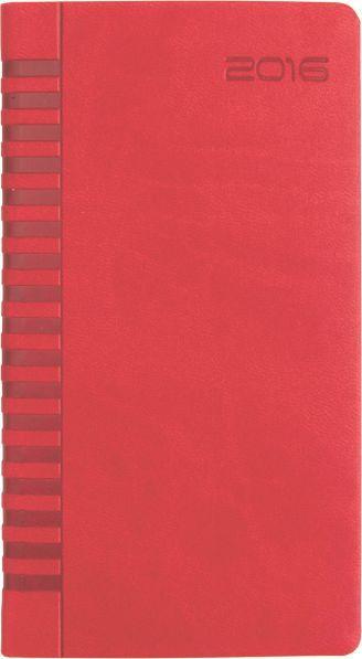Agenda 8x15cm,datata,Bristol,128p,rosu coral