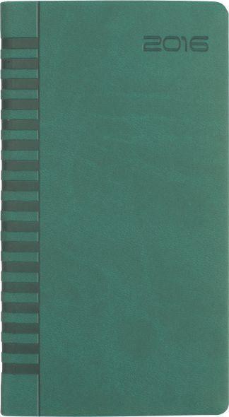 Agenda 8x15cm,datata,Bristol,128p,verde