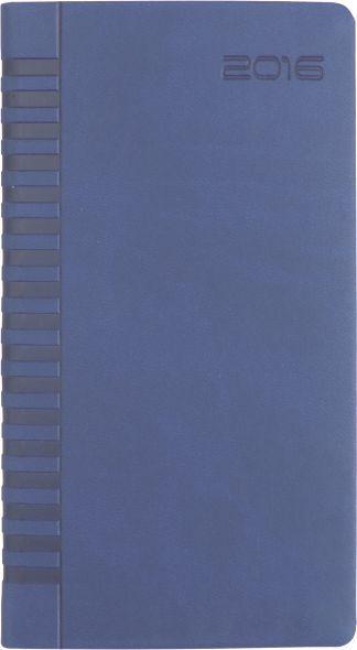 Agenda 8x15cm,datata,Bristol,128p,albastru