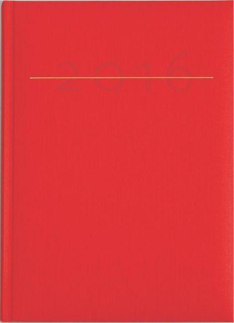 Agenda A5,datata,Caribe,320p,rosu