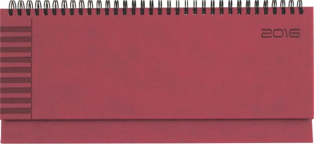 Planner 11x30cm,Bristol,saptamanal,128p,rosu coral