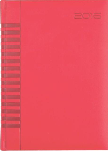Agenda A4,datata,Bristol,128p,rosu coral