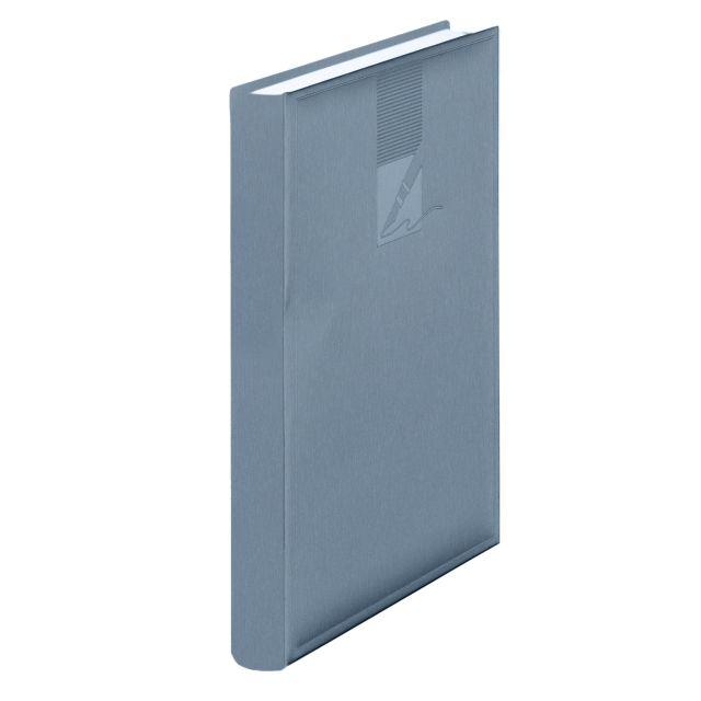 Agenda A5 nedatata,224p,metalizata,albastru