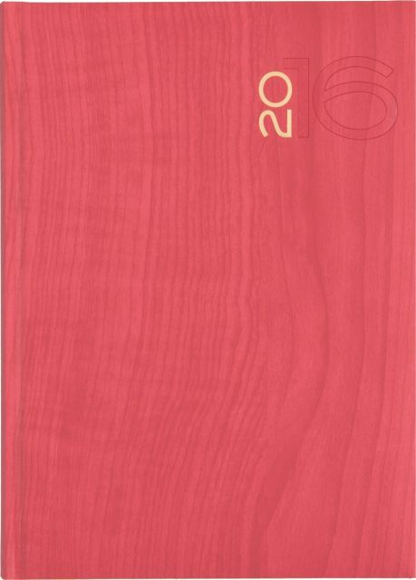 Agenda A5,datata,Giava,320p,rosu