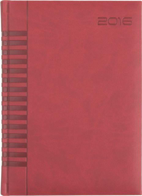 Agenda A5,datata,Bristol,320p,rosu cardinal