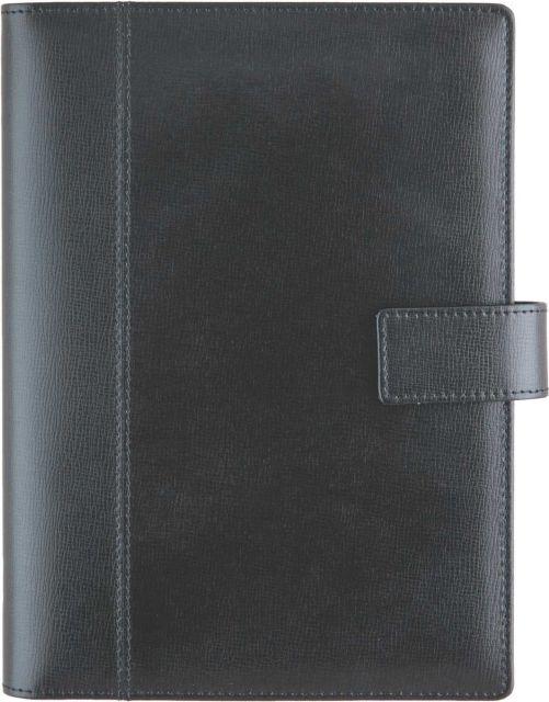 Agenda datata 17x24cm,Siena,piele,320p,negru