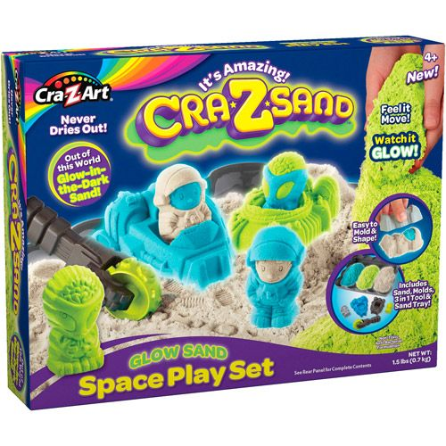 Cra-Z-Sand,nisip,700g,fluorescent,forme spatiu