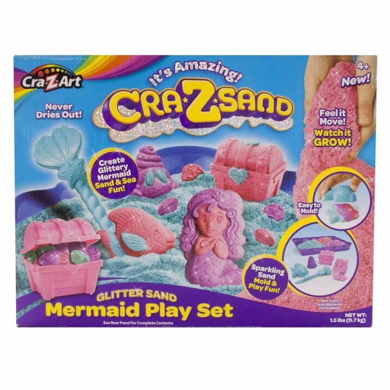 Cra-Z-Sand,nisip,700g,sclipici,forme sirena