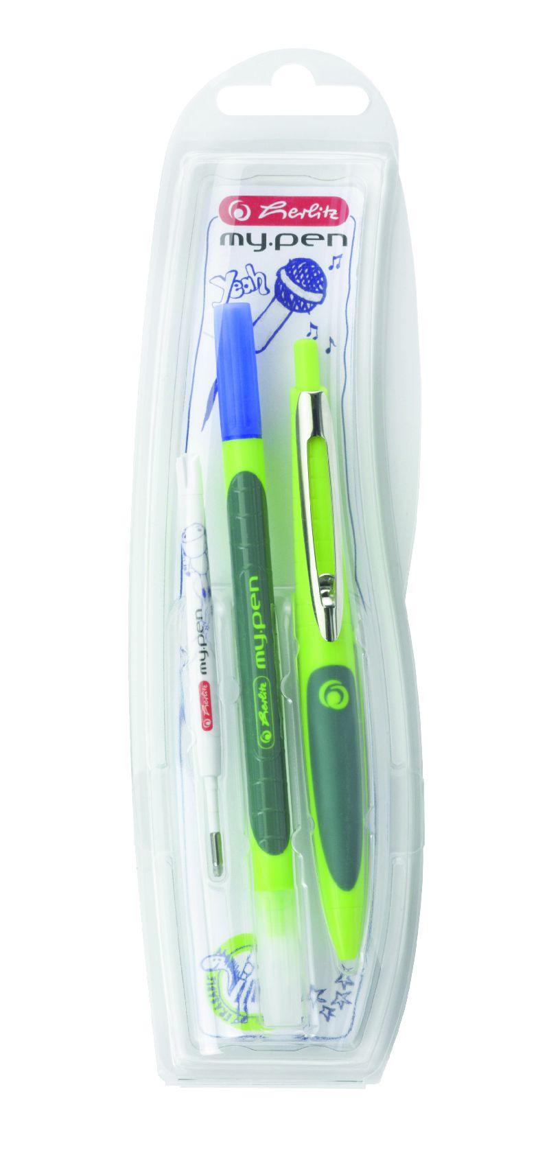 Pix cu gel My Pen,co rp verde/verde deschis