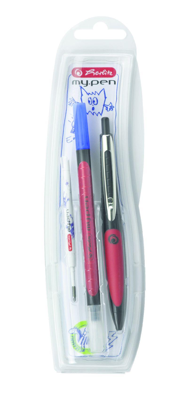 Pix cu gel My Pen,co rp negru/rosu