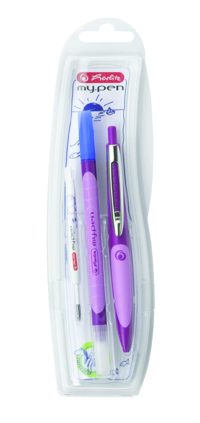 Pix cu gel My Pen,co rp mov/mov deschis