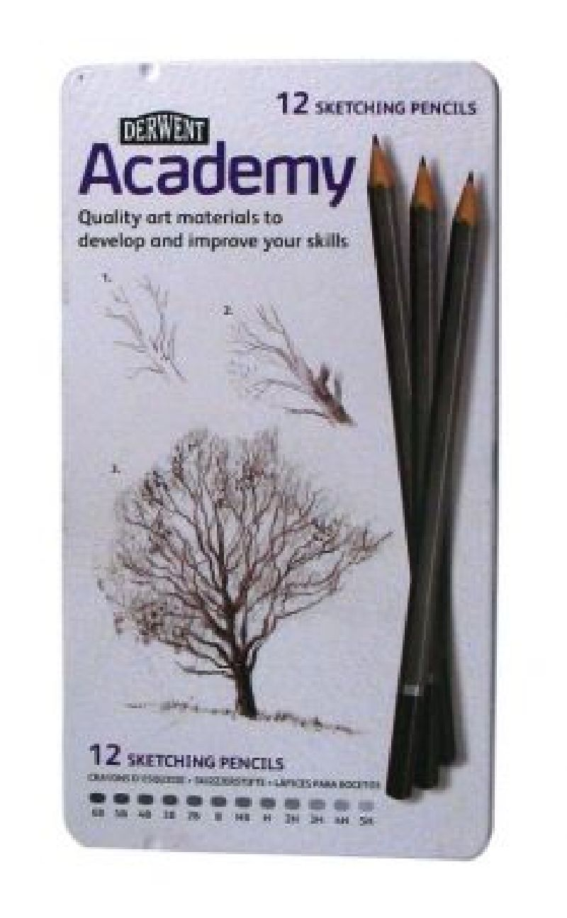 Set creioane grafit Academy Sketch 12buc