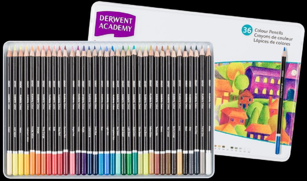 Set creioane Academy Colour 36 buc