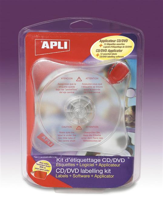 Etichete CD/DVD (12buc) Soft+Aplicator