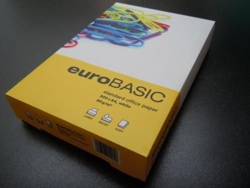 Hartie Eurobasic,A4,80g/mp,500coli