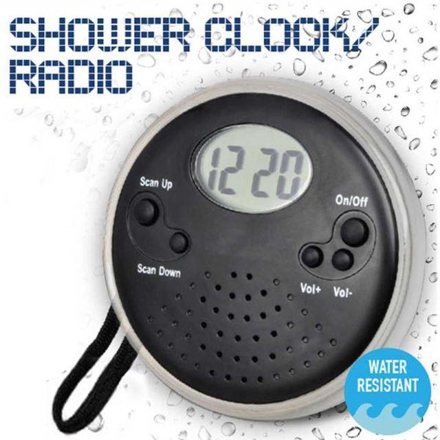 Radio cu ceas pentru dus