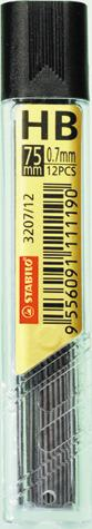 Mine Stabilo,creion mecanic,0.7mm,HB,3set