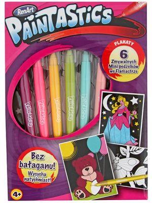 Paintastics,6 miniculori,6 postere A5,roz,set