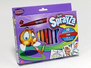 Sprayza,10 markere,sablon A5,6 buc,rosu